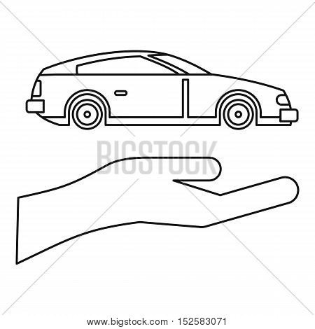 Car Insurance concept icon. Outline illustration of car Insurance vector icon for web