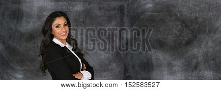 Confident indian businesswoman who is ready for work