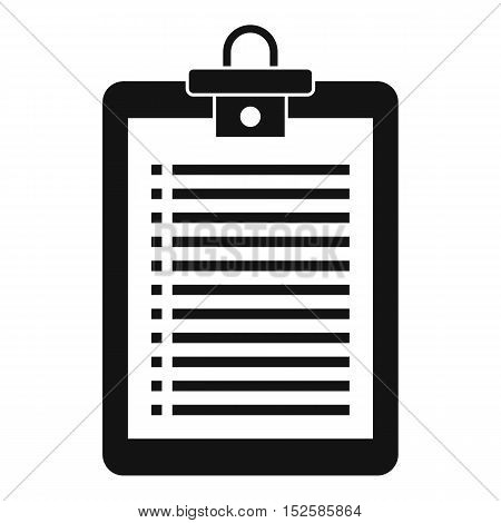Clipboard with check list icon. Simple illustration of clipboard vector icon for web