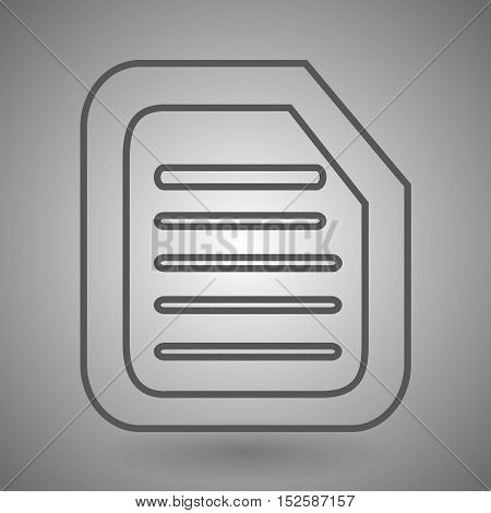 linear form icon vector illustration on gray background.