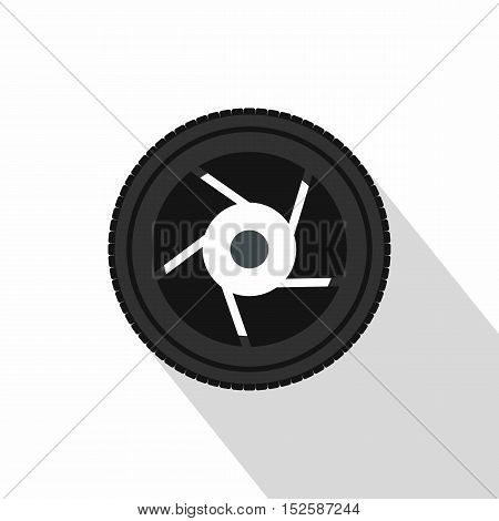 Camera aperture icon. Flat illustration of camera aperture vector icon for web isolated on white background
