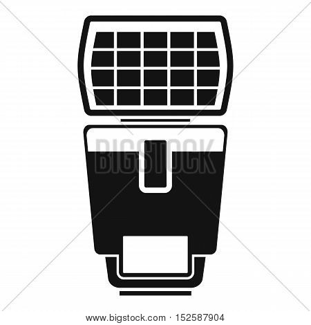 Lighting flash for camera icon. Simple illustration of lighting flash for camera vector icon for web