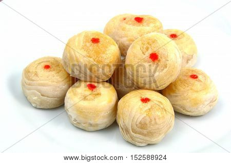 Chinese Pastry-Mung Bean with Egg Yolk . Dessert Thai Style.