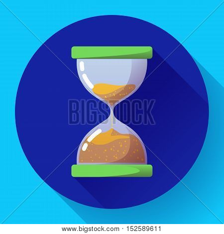old vintage hourglass icon flat vector - time icon symbol