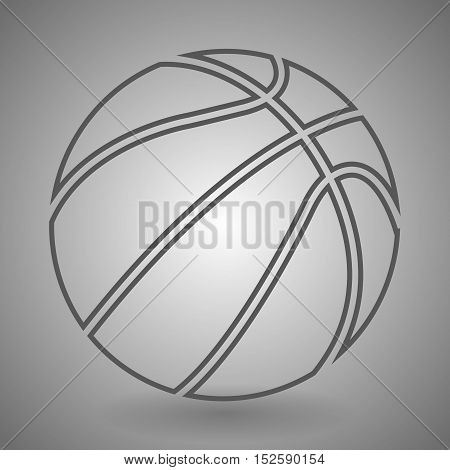 Basketball equipment icon. Sport ball sign. Team game symbol. Linear outline icon.