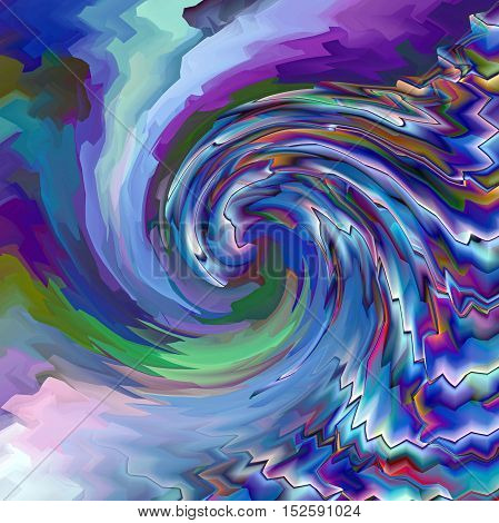 Abstract coloring background of the horizon gradient with visual pagecurl, lighting, wave and twirl effects, good for your project design