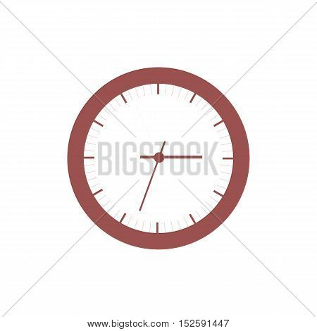 Stylized icon of colored clock on a white background