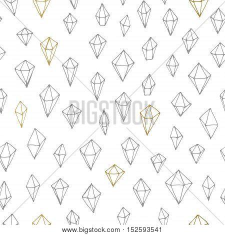 Geometric vector seamless trendy hand drawn pattern.
