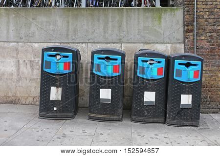 Big Plastic Recycle Bins for Trash at Street