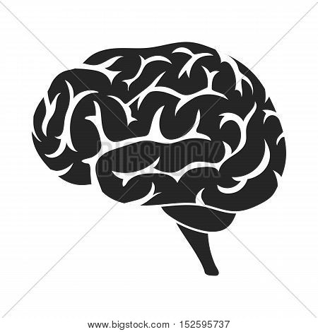 Brain icon in black style isolated on white background. Organs symbol vector illustration.