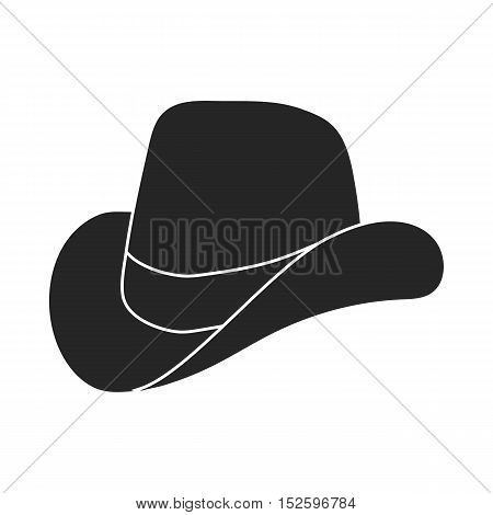 Cowboy hat icon in black style isolated on white background. Patriot day symbol vector illustration.
