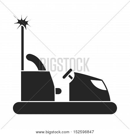 Bumper car icon in black style isolated on white background. Play garden symbol vector illustration.