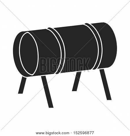 Playground tunnel icon in black style isolated on white background. Play garden symbol vector illustration.