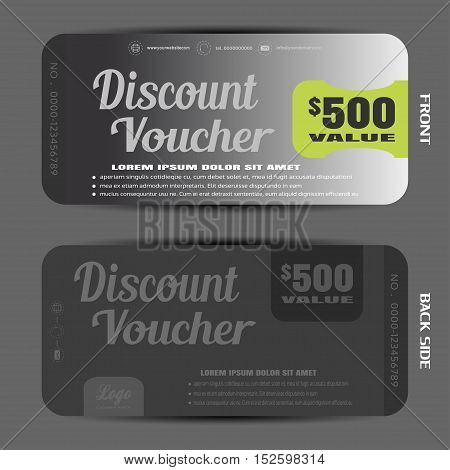 Blank of steel discount voucher vector illustration to increase sales.