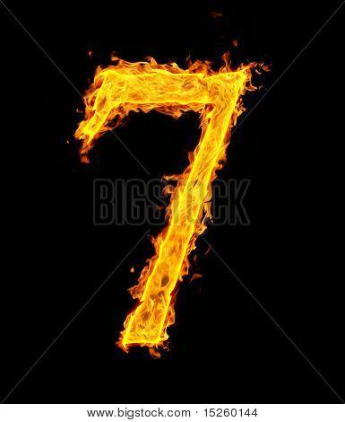 7 (sieben), fire Abbildung