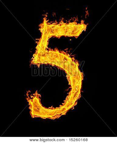 5 (fünf), fire Abbildung