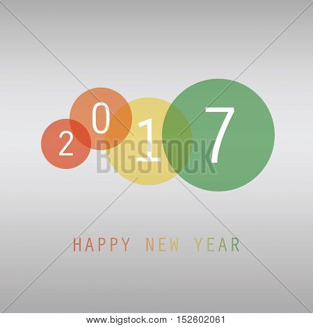 Colorful New Year Card, Flyer, Cover or Background Design in Freely Scalable and Editable Vector Format