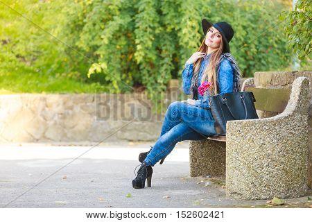 Stylish Woman On Air