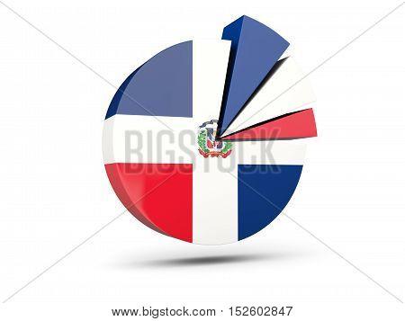 Flag Of Dominican Republic, Round Diagram Icon