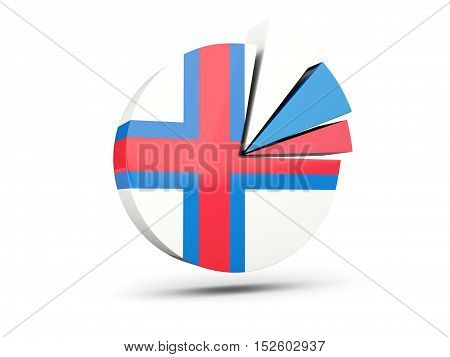 Flag Of Faroe Islands, Round Diagram Icon