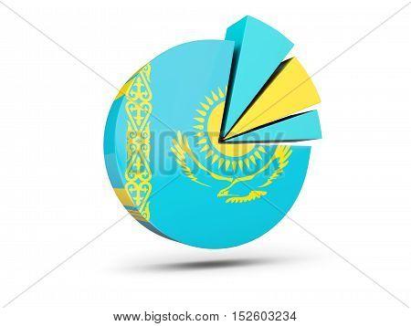 Flag Of Kazakhstan, Round Diagram Icon