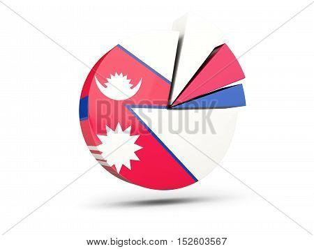 Flag Of Nepal, Round Diagram Icon