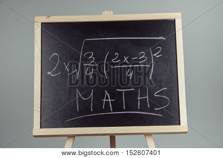 Math Exercise On Chalkboard