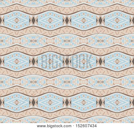 ethnic pattern for fabric. Abstract geometric vintage seamless pattern ornamental.