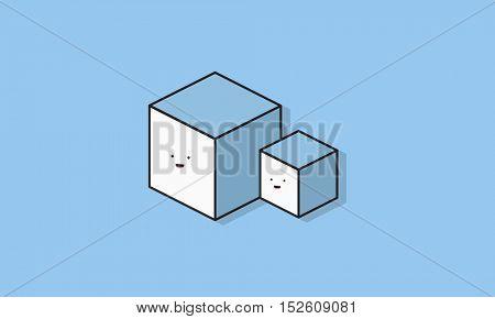 Cube Square Icon Vector Concept
