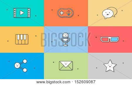 Icon Vector Illustration Collection Concept