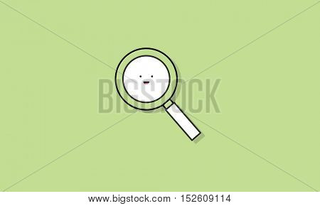 Magnifying Glass Icon Vector Concept