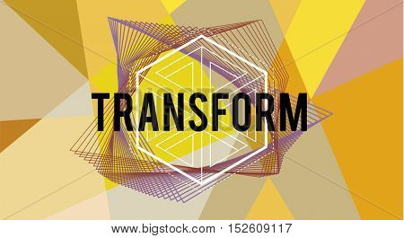 Transform Word Icon Design Graphic Concept