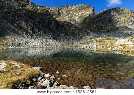 Landscape of Elenski lakes and Malyovitsa peak, Rila Mountain, Bulgaria