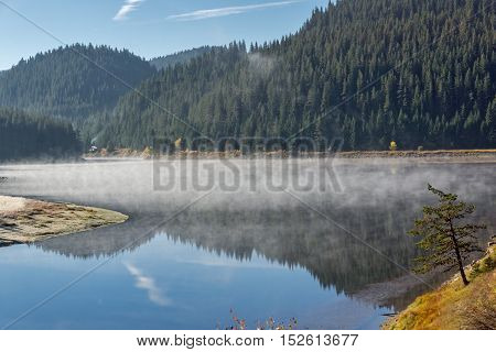 Bulgaria, Pazardzhik Region, River, Reservoir, Dam, water, nature, lake, landscape, peninsula, landmark, Rhodopes, Rodopi, Mountain, forest, tree, hill, meadow, panorama, view, meander, canyon, summer, Environment, travel, tourism, leisure, Balkans, sceni
