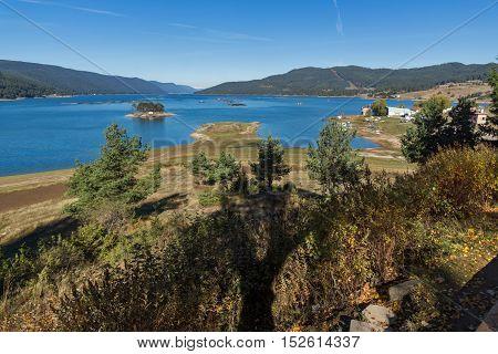 Autumn view of Dospat  Reservoir, Smolyan Region, Bulgaria