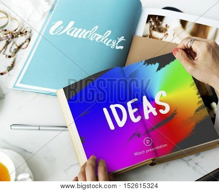 Design rainbow Paint Strokes Concept