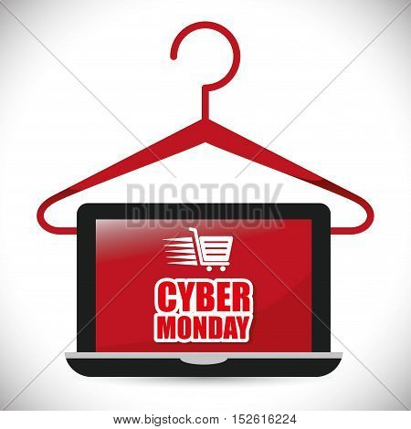 cyber monday sale event vector illustration design