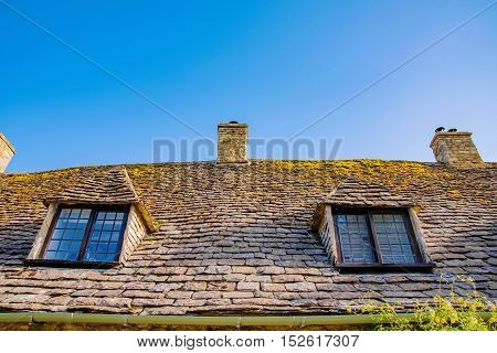 Detail of old British townhouse in the countryside