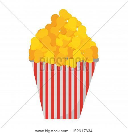 delicious pop corn isolated icon vector illustration design