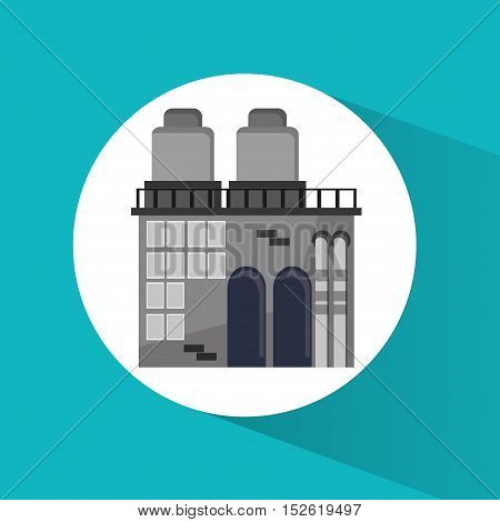 Plant building icon. Factory industry and industrial  theme. Colorful design. Vector illustration