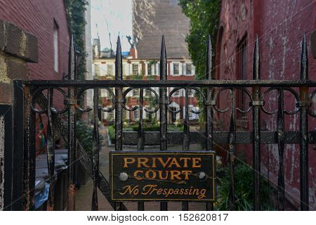 Grove Court a private enclave in the Greenwich Village neighborhood of Manhattan New York City.