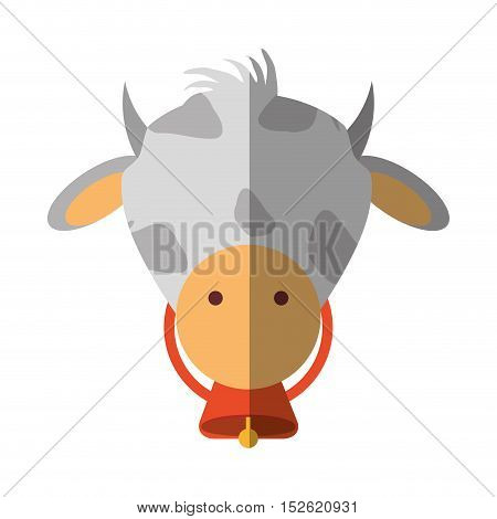 cow animal farm isolated icon vector illustration design
