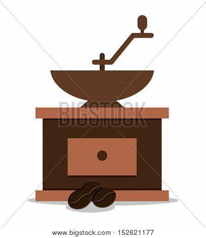 Coffee greinder icon. Coffee shop drink beverage and restaurant theme. Vector illustration