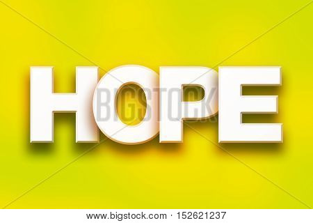 Hope Concept Colorful Word Art