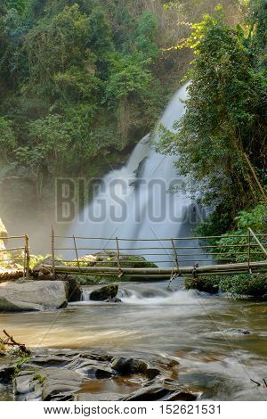 waterfall in forest at doi inthanon Thailand