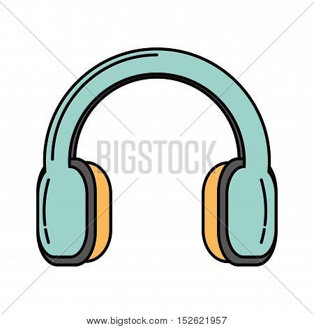 headset audio device isolated icon vector illustration design