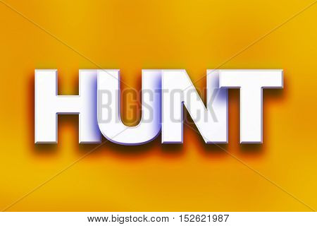 Hunt Concept Colorful Word Art