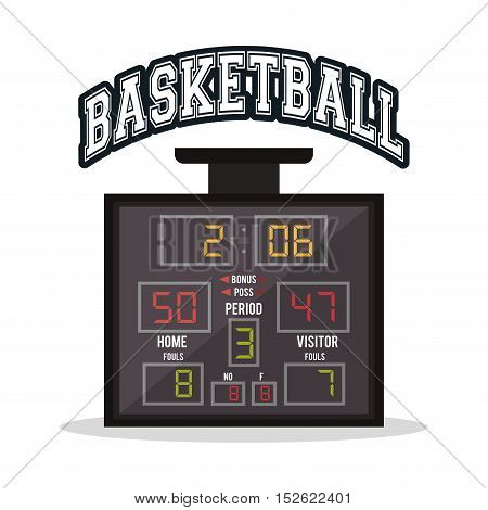 Marker icon. Basketball sport hobby and competition theme. Colorful design. Vector illustration