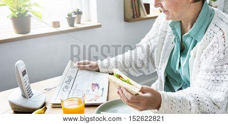 Sandwich Grandmother Meal Food Juice Concept
