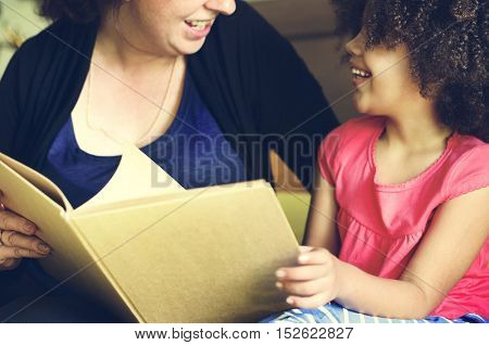 Mother Parenting Daughter Family Casual Relax Concept